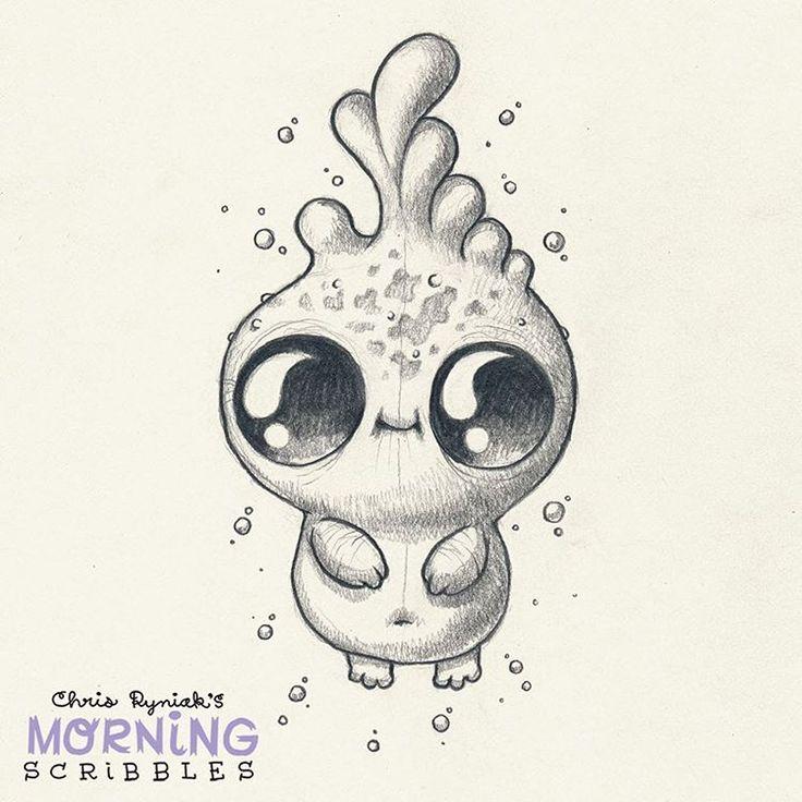 cute art by Chris Ryniak Dewdrop. #morningscribbles