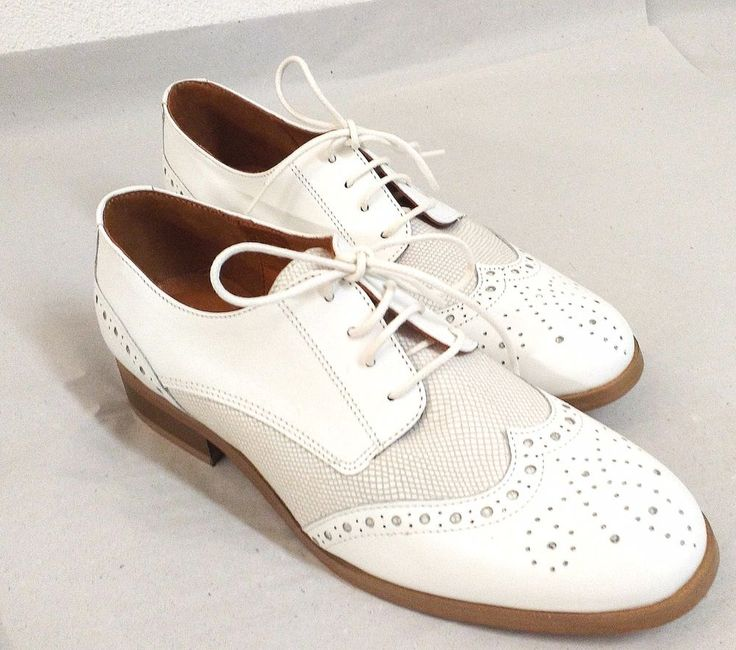 Luxus Damen Schuhe GALERIES LAFAYETTE Halbschuhe im Budapester Stil Weiss neu | Kleidung & Accessoires, Damenschuhe, Halbschuhe & Ballerinas | eBay!