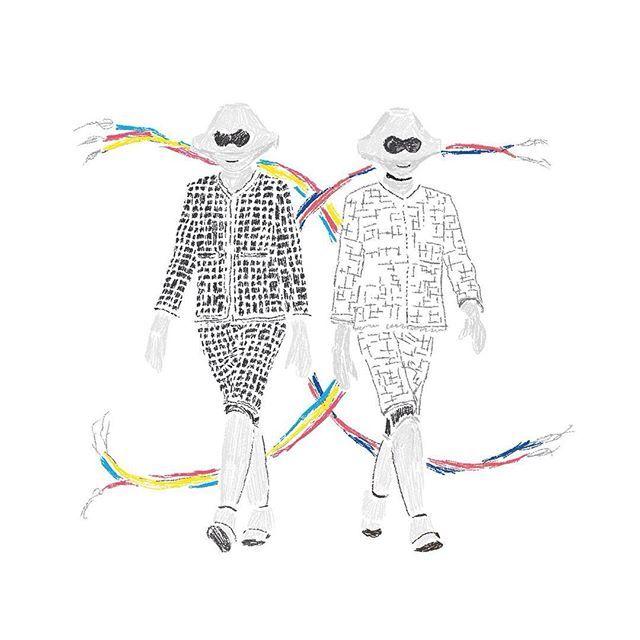 Chanel Spring /summer 2017 show #chanel #ss17 #karllagerfeld #fashionweek #paris #pfw #moda #robot #technology #illustration #illistrator #artwork #art #artogtheday #drawing #runway