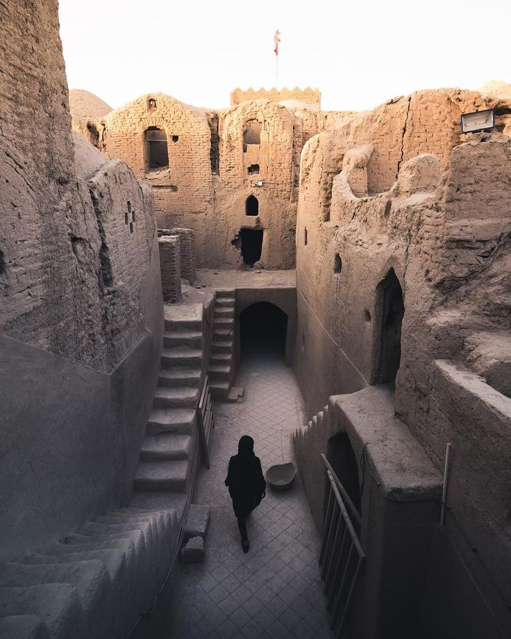 """Walking through ancient bank safe-deposit boxes was really something else."" , Sar yazd , yazd , iran"