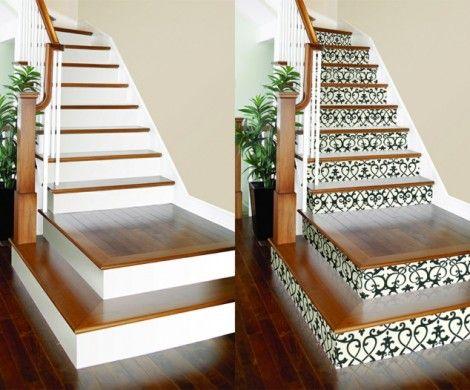 residential wooden stairway
