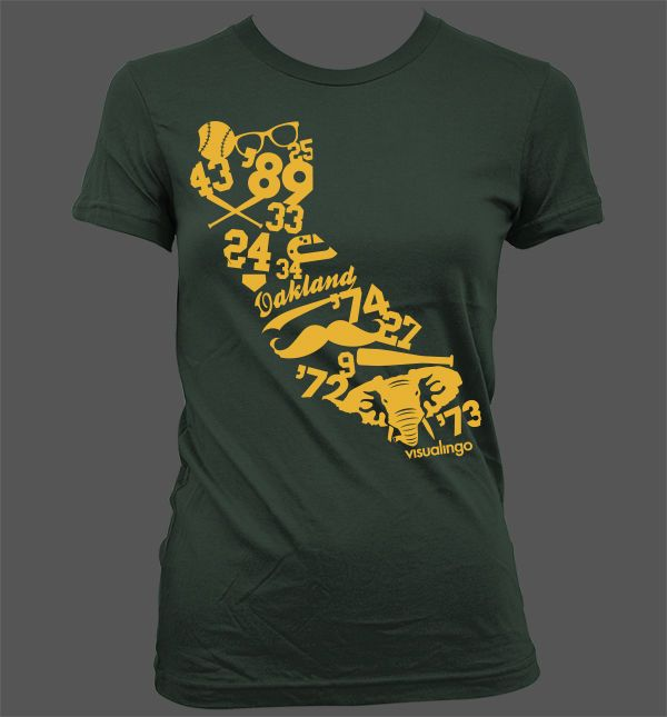 We Run California Women's T-Shirt - Oakland Athletics A's Baseball Stomper #AmericanApparelLAT #GraphicTee