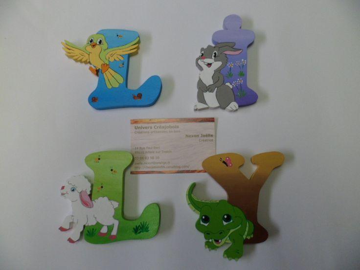 Prénom plaque de porte lettres en bois Décoration chambre enfant : Décorations murales par creajobois-univers