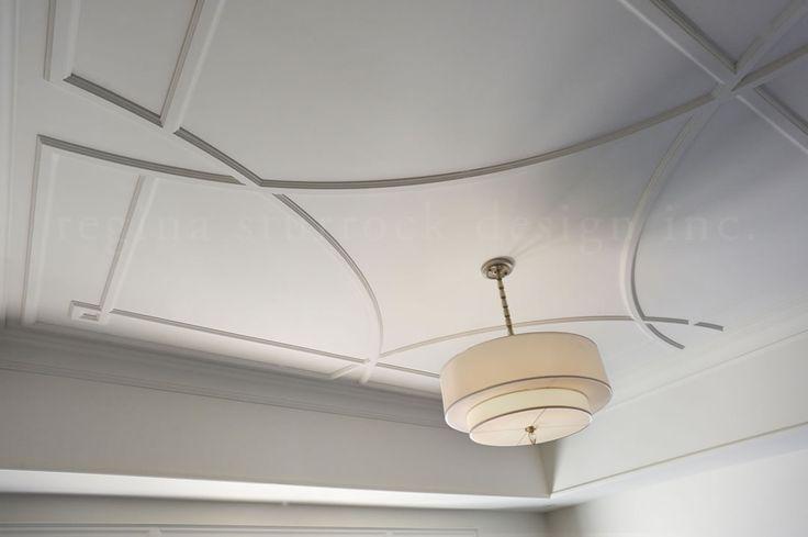 Custom ceiling tracery. Oakville Interior Design Project: Beyond the Blueprint   Regina Sturrock Design Inc
