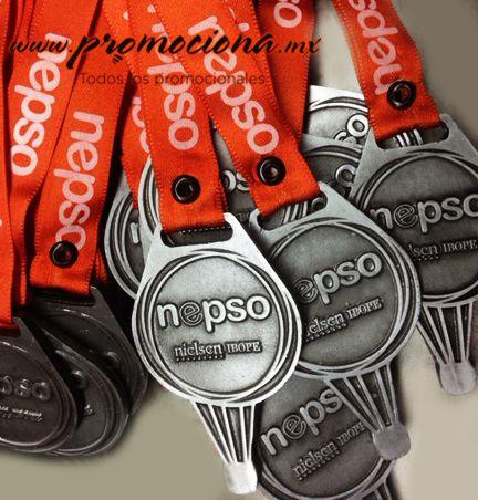 Medalla diseño especial nepso, listón impreso 1 tinta. #medallas #colores #carrera #articulospromocionales #promocionales #promociona http://www.promociona.mx/index.php/medalla-dise-o-especial.html