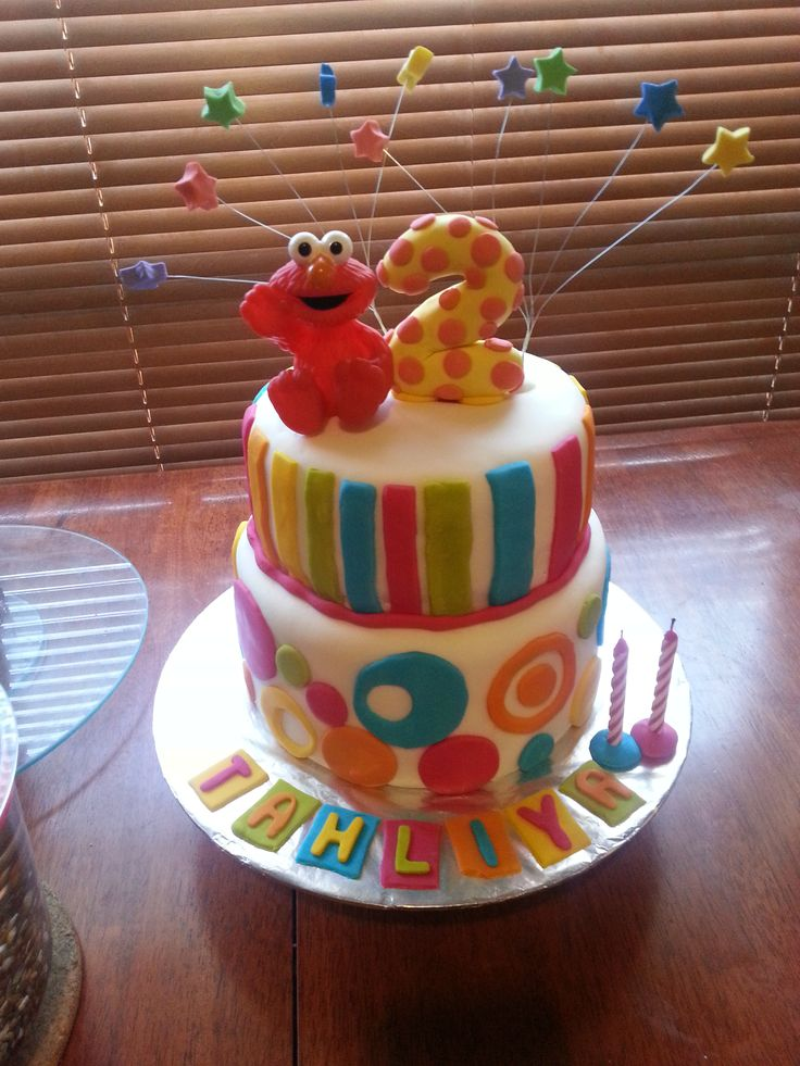 Third born daughter turned 3 as a BIG Elmo's world fan so her cake (and entire party) was themed accordingly, I found this one was so fun to make and I was very happy with the results.