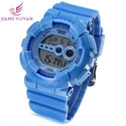 Shhors 810C Jiangyuyan Military LED Watch Water Resistant Day and Date Sports Wristwatch