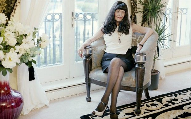 Hilary Devey in The Daily Telegraph Magazine 23rd March 2013, mentioning her Welsh Royal Crystal Wine Glasses and her very own pattern Y Ddraig!