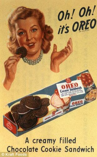 1940s Oreo Cookie Ad, Advertisement. Wartime Illustration.