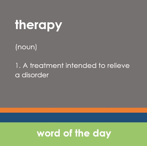 Wednesday's Word of the Day: therapy. Use it in a sentence below and get $5 bonus rewards. :) One Word of the Day rewards redemption allowed per #massage appointment.