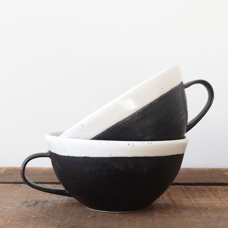 Black & White Latte Mug