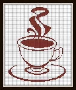 Image Detail for - Cross Stitch Pattern tea Coffee pattern by SilhouetteCentral. http://www.etsy.com/listing/72152681/cross-stitch-pattern-tea-coffee-pattern