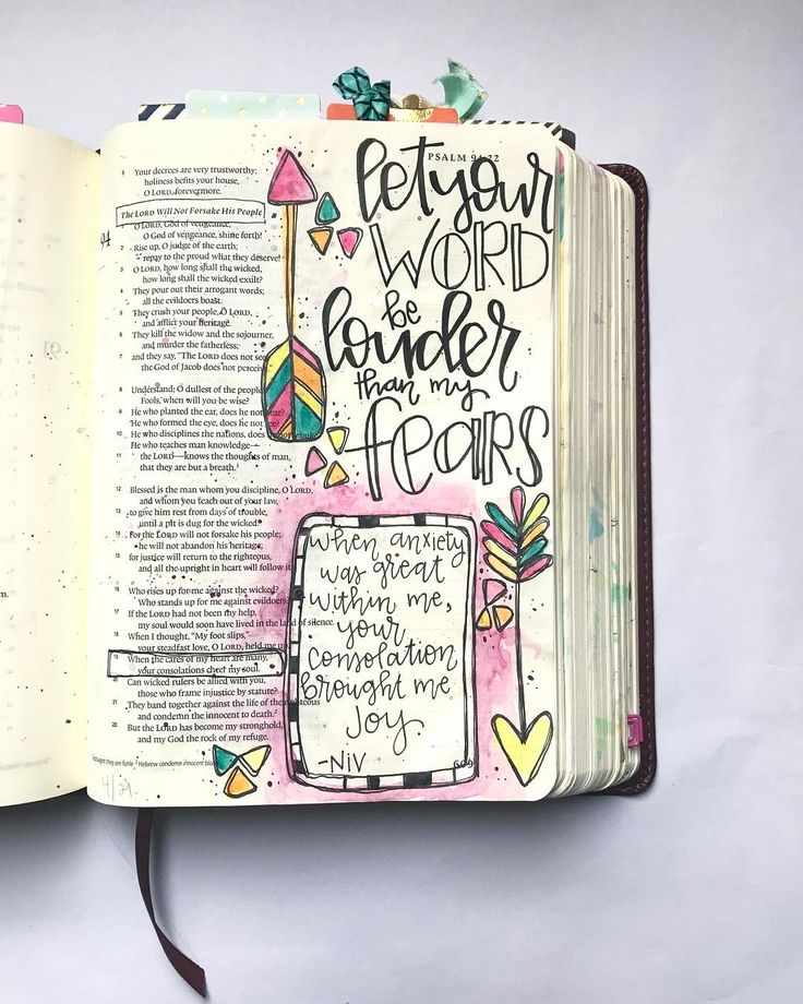 #Psalm94and19 #BibleJournaling Bible Journaling by @colorsoffaith
