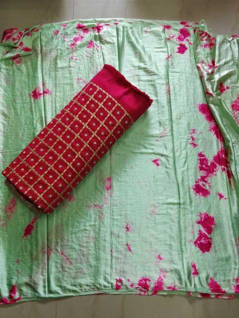 Satin Shibori Sarees WithhDesigner blouse | Buy Online Designer sarees | Elegant Fashion Wear