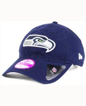 New Era Women's Seattle Seahawks Team Glisten 9TWENTY Cap - Blue Adjustable