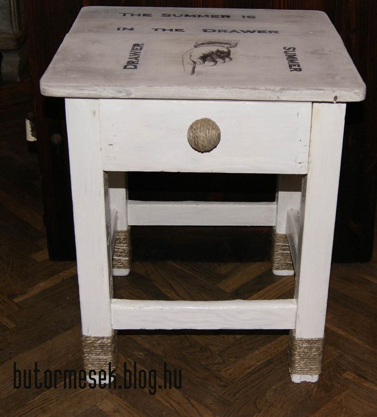 Stool with vintage