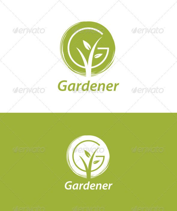 Logo inspiration for florists and gardeners. Gardener - Nature Logo Templates