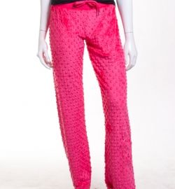 minky lounge pants in strawberry