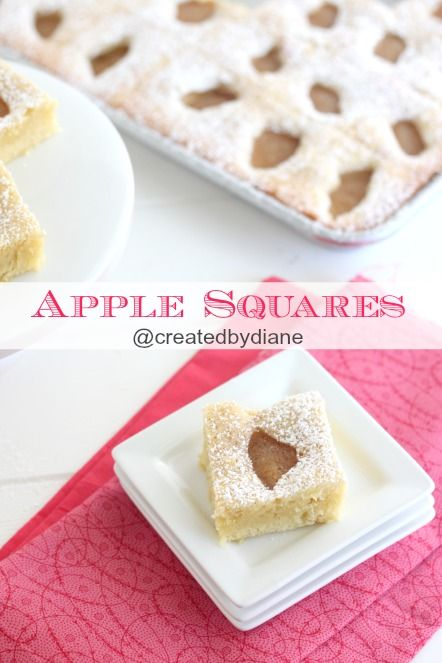 These Apple Squares are SO DELICIOUS and easy to make, perfect for bringing to a party too! @createdbydiane
