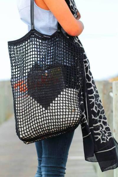 CROCHET TOTE BAG with Shoulder Handles  de White Sheep por DaWanda.com