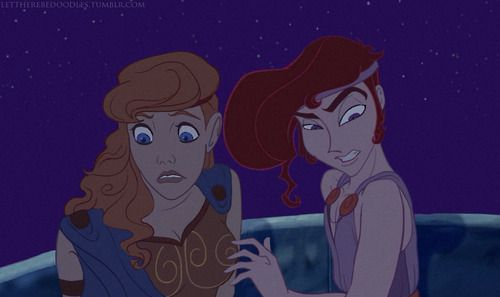 Hercules and Megara genderbend by lettherebedoodles // fem Herc is the cutest thing ever!!