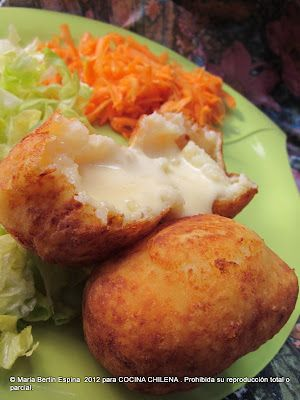 .COCINA CHILENA: PAPAS RELLENAS. Just had Papas Rellenas for the first time today and they were AWESOME. I hope this recipe is just as good!