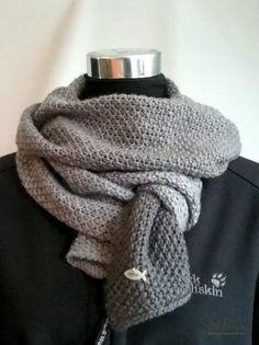Einen einfachen Herren Schal stricken ist nicht schwer. Im Perlmuster stets beli…