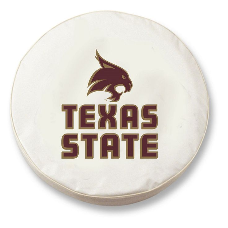 Texas State Bobcats White Tire Cover w/ Security Grommets