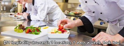 Melbourne Cheapest Hospitality Courses with Australia's most reviewed short course training company. Food Handling, RSA, and RSG Courses 7 days a week in three locations. Morning, afternoon & evening sessions available. Get a fun job Now! Certificate issued on the day. Book on-line at https://foodsafetymelbourne.com