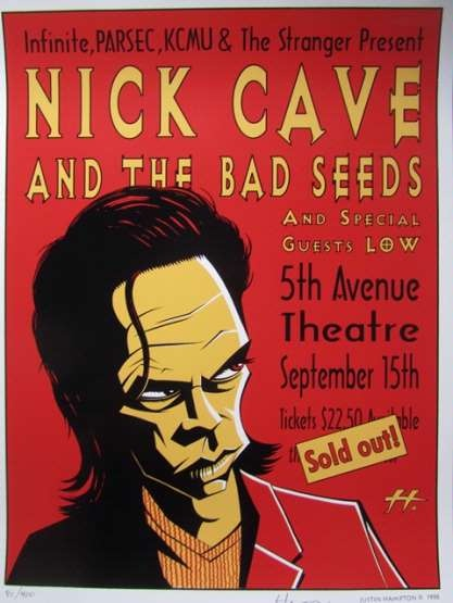 26 best nick cave posters images on pinterest nick cave concert posters and gig poster. Black Bedroom Furniture Sets. Home Design Ideas