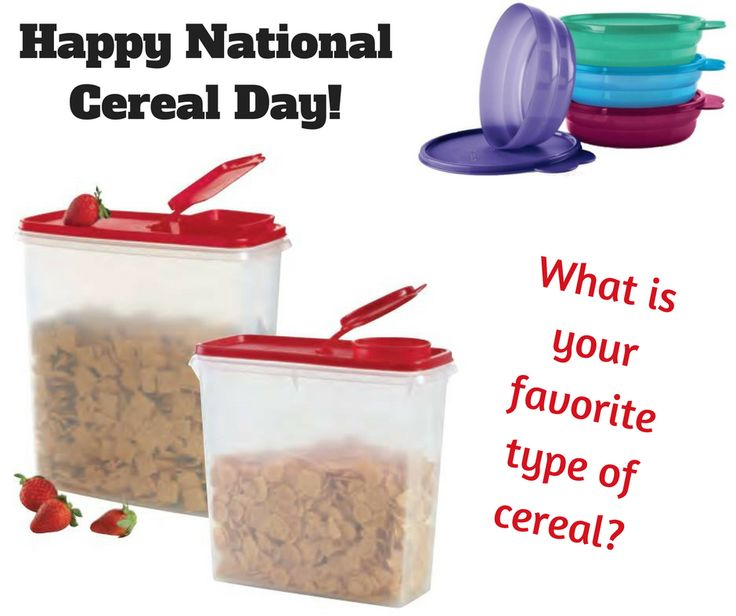 Did you know today is National Cereal day? It is. I don't eat much cereal myself, and when I do it's usually as a dry snack so go for one of the sweet ones I can eat with my hand. What is your favorite type of cereal?