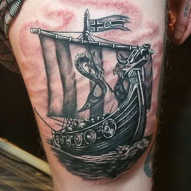 Image result for viking longship tattoo
