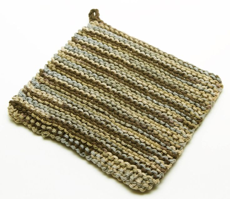 Knitting Pattern For A Pot Holder : double-knit-potholder stitching: knitting Pinterest Potholders, Knits a...
