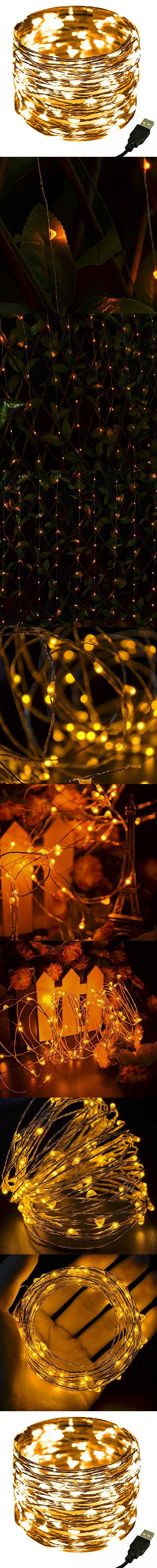 LED Decorative String Light,CrazyFire Yellow Copper Wire Starry Light Strings Dcor Rope Light for Indoor and Outdoor Decor,Home Garden, Xmas Festival Party Decorations