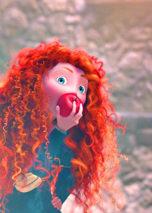 that awkward moment when you realize everyone is watching you stuff your face... disney, brave