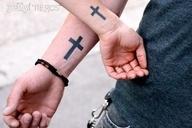 Tattoos Designs 2012: Small Cross Tattoo on Wrist Ideas