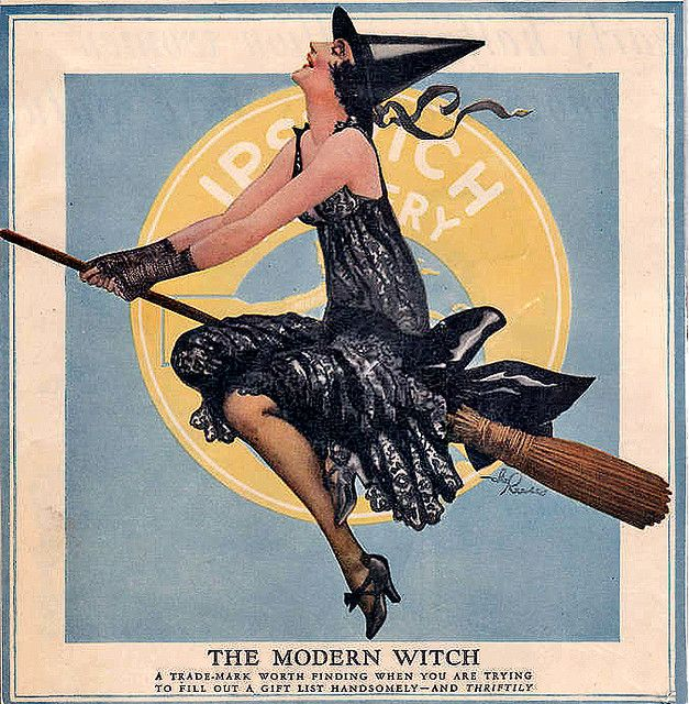"vintage Flapper Witch ""The Modern Witch"""