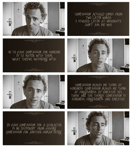 I don't know about you, but I just want to be friends with Tom Hiddleston.
