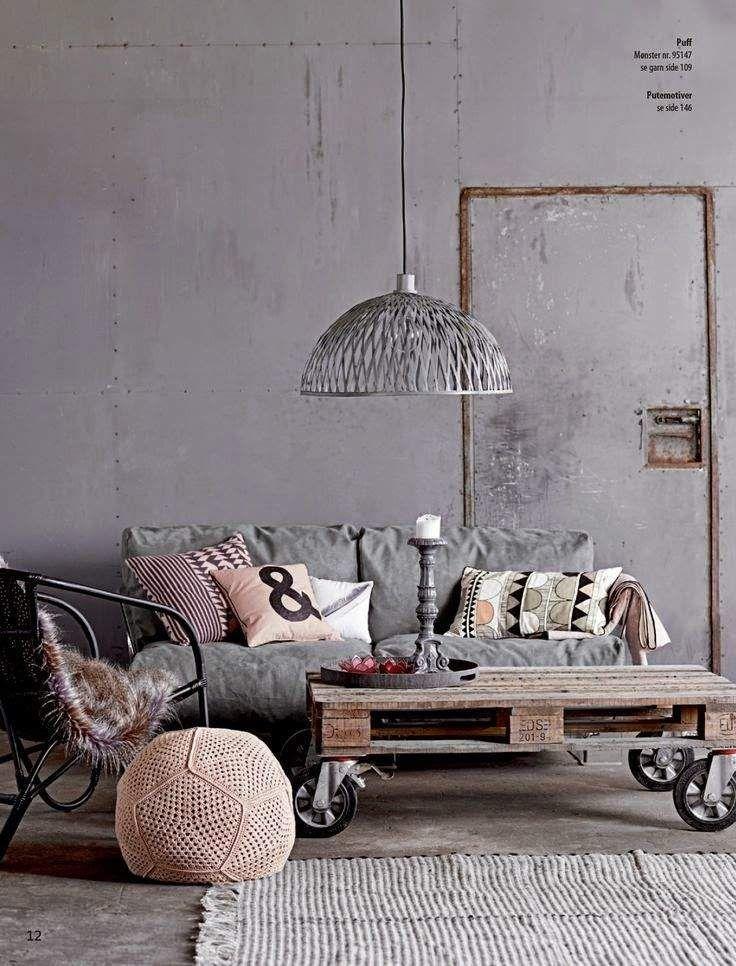 table basse style industriel en bois et roulettes tapis gris et blanc ray - Table Basse Blanc Style Marin