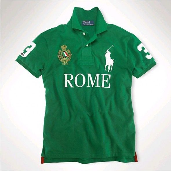Australia Outlet Ralph Lauren Big Pony Long Sleeved Polo Shirts Dark Green
