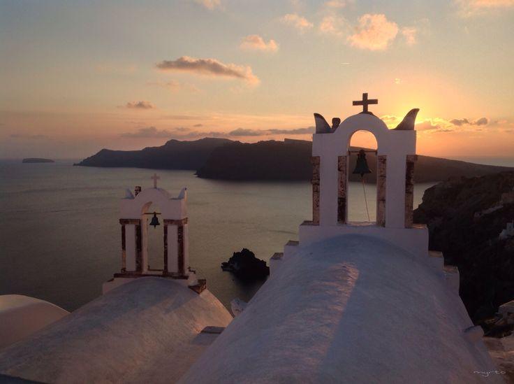 It's always beautiful ! Late December 2013 sunset ! Oia (Ia) , Santorini , Greece !