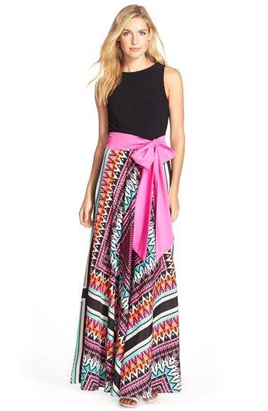 Eliza J Jersey & Crêpe de Chine Maxi Dress (Regular & Petite) available at #Nordstrom