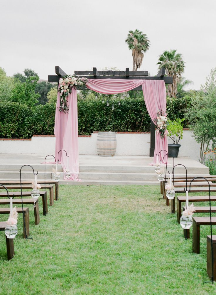 Photography : Hello Blue Photo Read More on SMP: http://www.stylemepretty.com/california-weddings/corona/2016/10/24/california-pastel-pink-wedding/