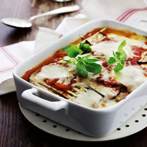 Auberginegratin med parmesan