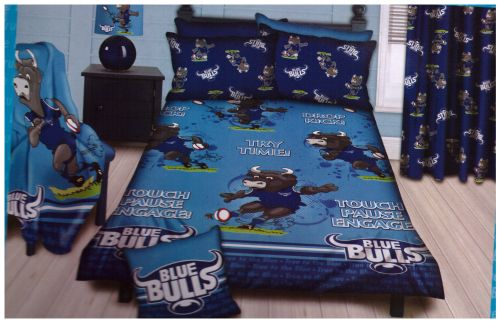 3/4 Blue Bulls duvet set @ R320  For more info & orders, email SweetArtBfn@gmail.com or call 0712127786 (SA Shipping available @ R45)