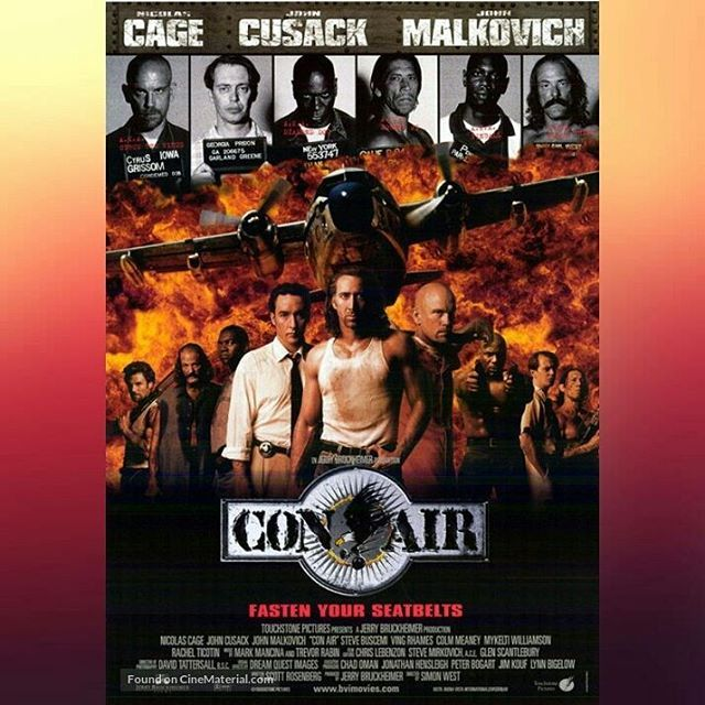 Garland Greene: Define irony. Bunch of idiots dancing on a plane to a song made famous by a band that died in a plane crash. #Viewsrule #ConAir [1997] #NicolasCage #JohnMalkovich #JohnCusack #SteveBuscemi #MonicaPotter #SimonWest #JerryBrukheimer #BoxOffice #Hollywood #Moviequotes #Movies #Movie #Moviequote #Blockbuster #Blockbusters #Justice #Irony #Hijack #Aeroplane #Airplane