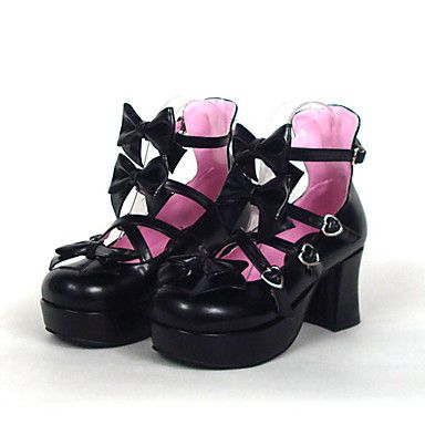 7.5cm High Heel Sweet Lolita Shoes with Bow