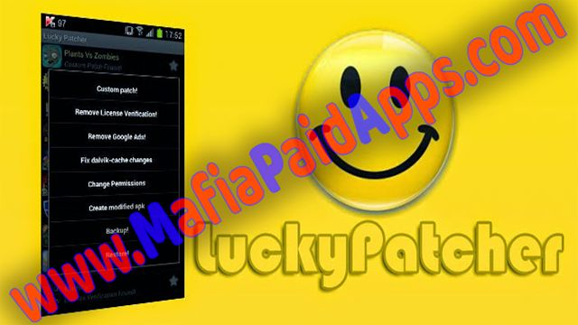 Lucky Patcher Apk 7.0.1 for android | Unlock app & game    Lucky Patcher Apk Unlock app & game  Lucky PatcherIs Good App For Pach All Soft And Game For Android . Download this App From MafiaPaidApps .  Lucky Patcheris an application that can patch your apps to Remove the license check remove advertisements customize and limit permissions and also create a modified (Mod version) app it means the apk file that installs the app with its applied patch. some other features of lucky patcher are…