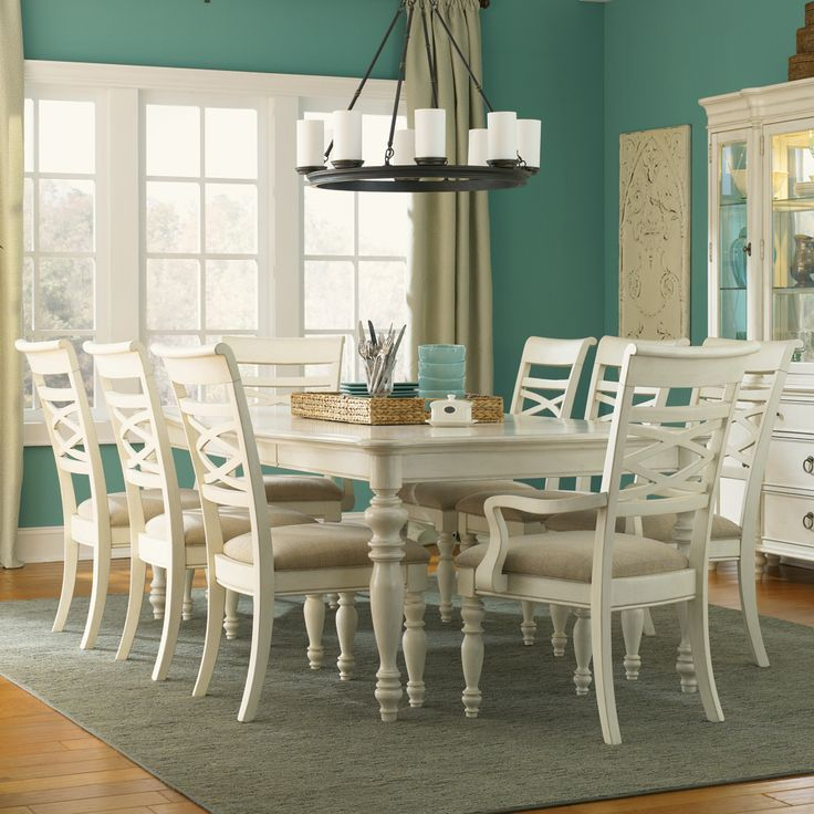 Glen cove rectangular dining table chairs legacy classic for White dining room table with leaf