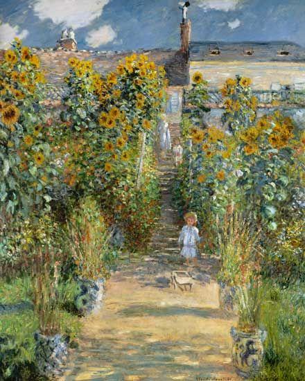 Claude Monet - Jardin de l'artiste à Vétheuil